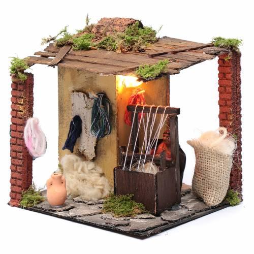 Animated weaver 10cm Neapolitan Nativity s2