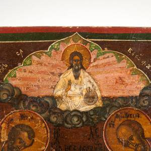 Antique Icon Christ of Deesis (entreaty) s7