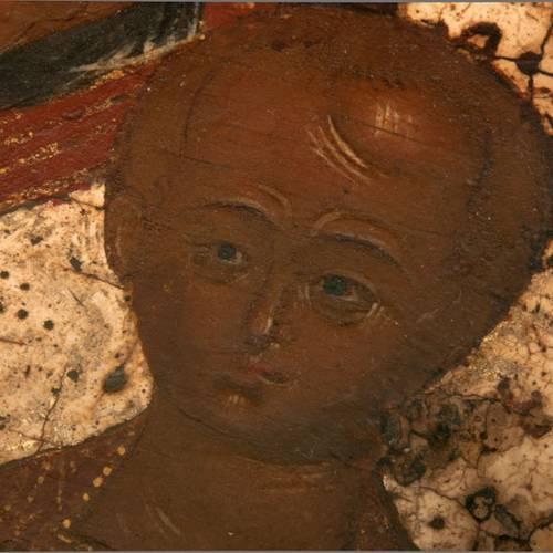 Antique icon 'Our Lady of Kazan' s5