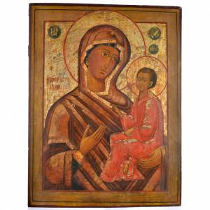 Ancient Russian icons: Antique Russian Icon, Our Lady of Tichvin 68x57cm XIX century