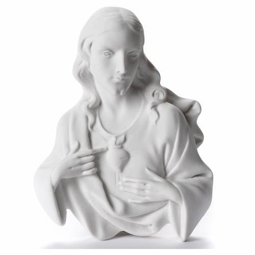 Applique Sacré Coeur de Jésus marbre 12 cm s1