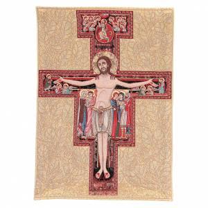 Arazzo con Crocefisso San Damiano 65x45 cm s1