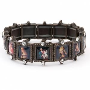 Religiöse metallische Armbänder  mit Bilder: Armband Multibilder Strass