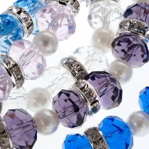 Sonstige Armbände: Armband Perlen Kristall Strass