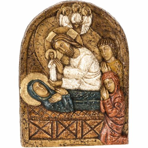 Assumption bas-relief in stone, Bethléem 1