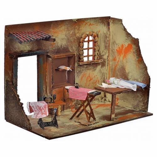Atelier de couture en miniature 33x18x25 cm s2