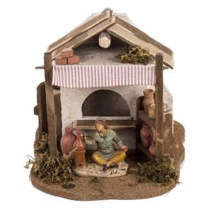 Maisons, milieux, ateliers, puits: Atelier du céramiste crèche  Fontanini village 12 cm