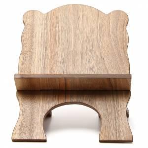 Atril de mesa de madera de nogal simple Monjes de Belén s1