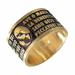 Prayer rings: Ave Maria bronze prayer ring - ITALIAN