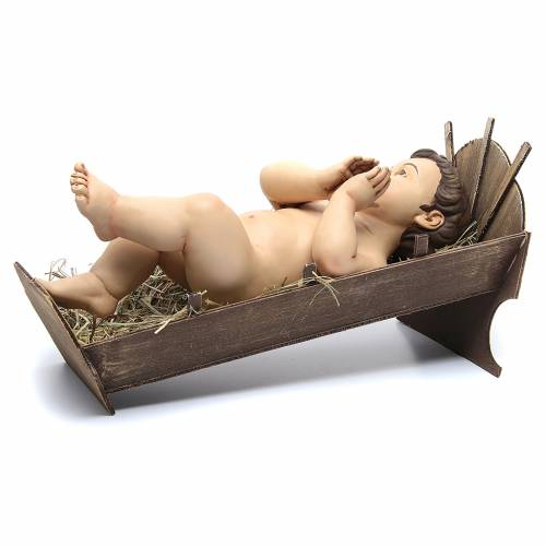 Baby Jesus praying, in terracotta with glass eyes 35 cm s3