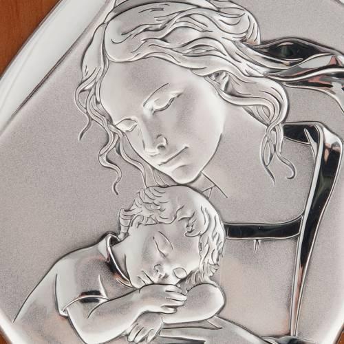 Bajorrelieve plata madre con niño dormido 14 cm s2