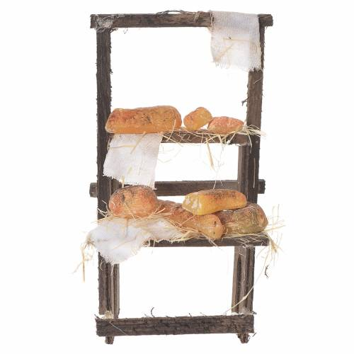 Baker's stall in wax, 13.5x8x5.5cm s4