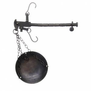 Balance en métal diam 6 cm crèche napolitaine s2