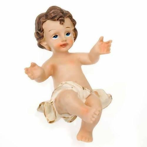 Gesù Bambino resina sdraiato cm 10.5 s3