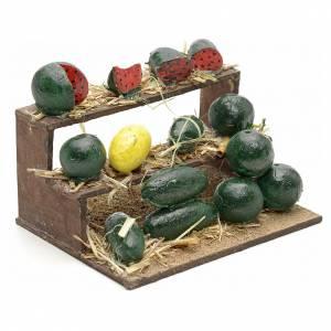 Banc aux melons en miniature crèche Napolitaine 4,5x9x7 s2