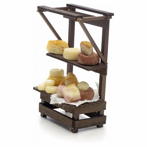 Banca con quesos y embutidos pesebre Nápoles s3