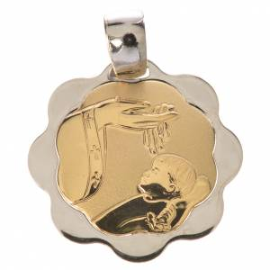 Baptism pendant in 18K gold, 1,48 grams s1