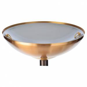 Baptismal font in hammered brass s5