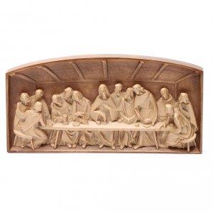 Bas-relief Cène bois Valgardena patiné multinuance s2