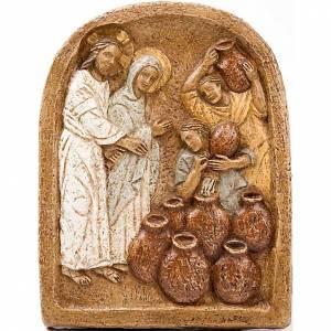 Bas reliefs en pierre: Bas-relief des Noces de Cana monastère Bethléem