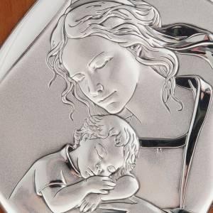 Bas reliefs en argent: Bas relief en argent , mère avec enfant qui dort, 14X11