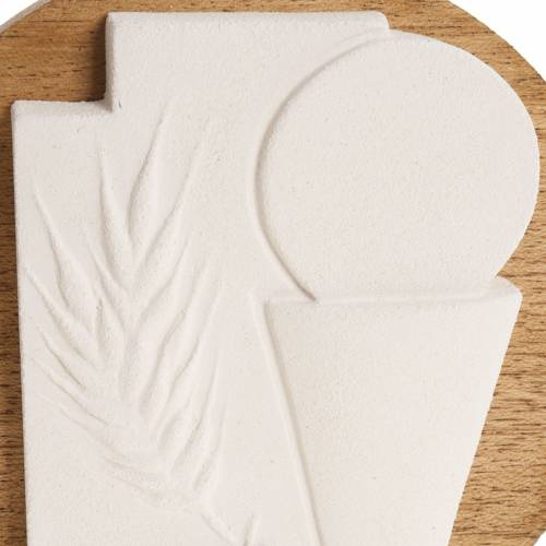 Bas-relief First Communion crucifix with wooden base s2