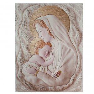 Bonbonnières: Bas-relief rectangulaire Maternité 30x42 cm