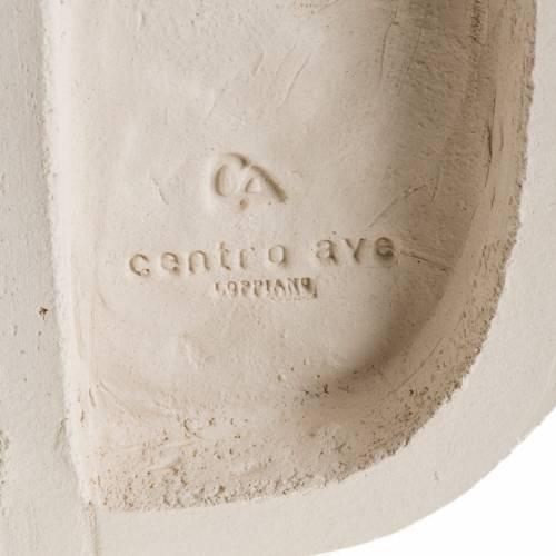 Bas relief religieux Marie reine argile 47 cm s5