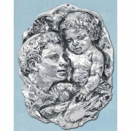 Bas-relief Saint Antoine argenté s1