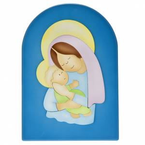 Sonstige Basreliefs: Basrelief-Tafel Madonna mit Kind