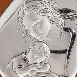 Bassorilievo bilaminato Madre con bimbo addormentato 14x11 s2