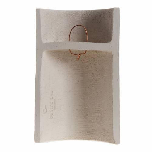 Bassorilievo Maria Gold argilla refrattaria h 17,5 cm s4