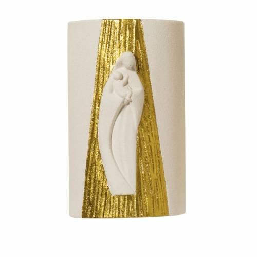 Bassorilievo Maria Gold con raggi h 17,5 cm s1