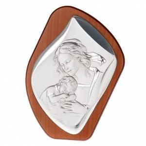 Silber Basreliefs: Bassrelief Silber Mutter mit schlafenden Kind