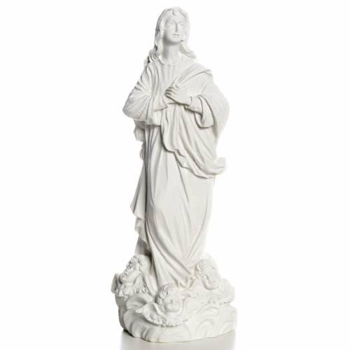 Beata Vergine Assunta marmo sintetico bianco s1