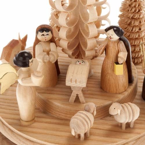 Belén estilizado madera con caja de música s2