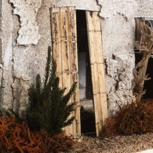 Krippe Häuser, Laden: Beleuchtetes Minarett mit Treppe: Szene für Krippe
