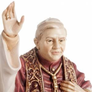 Benedict XVI wooden statue painted s3