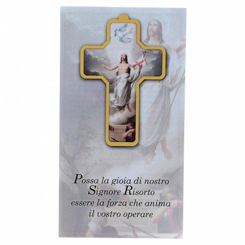 Benedizione delle Famiglie con croce pvc Resurrezione s3