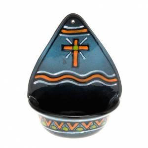 bénitier, croix en céramique s2