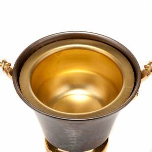 accessoires pour bénédictions: Bénitier en bronze repoussé