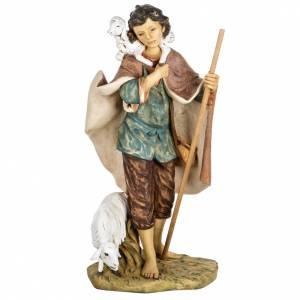 Santons crèche: Berger avec agneau crèche Fontanini 85 cm résine