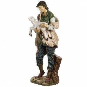 Santons crèche: Berger avec mouton 180 cm résine Fontanini
