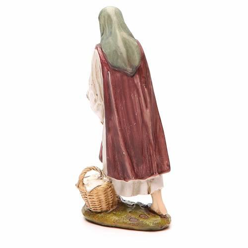 Bergère avec poule résine peinte 12 cm gamme économique Landi s2
