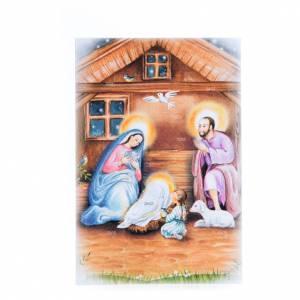 Biglietti augurali: Biglietto frase di auguri con calendario Novena di Natale