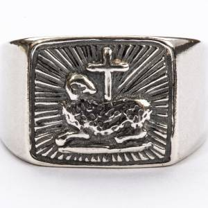 Bishop Ring in silver 800, lamb s3