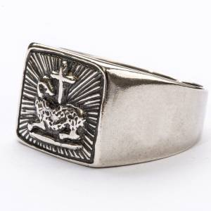 Bishop Ring in silver 800, lamb s2