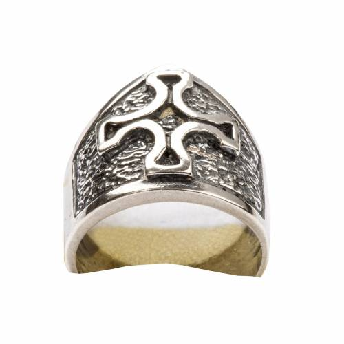 Bishop Ring made of silver 800 with cross s6
