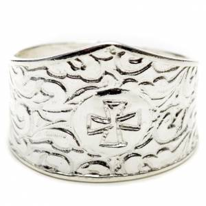 Bishop's ring in 800 silver with cross s1