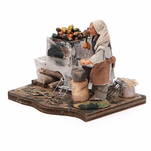 Blacksmith with forge, Neapolitan nativity figurine, 10cm s2